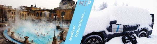 MIP accompagne ses clients à l'international (comme ici à gauche : en Hongrie), et sur tous les terrains dans toutes les conditions (à droite : en altitude dans les Alpes)...